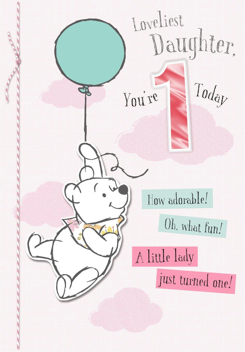 1st Loveliest Daughter Card