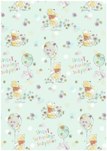 Pooh 'Sweet Sunshiny' Gift Wrap 2m