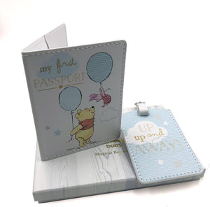 Disney Baby Magical Beginnings Blue Passport Cover and Tag