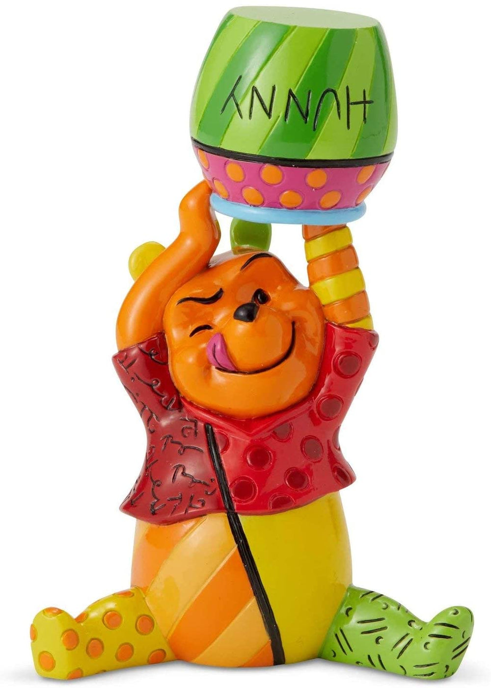Winnie The Pooh And Honey Pot Mini Figurine