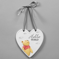 Christopher Robin Hello World Pooh Plaque