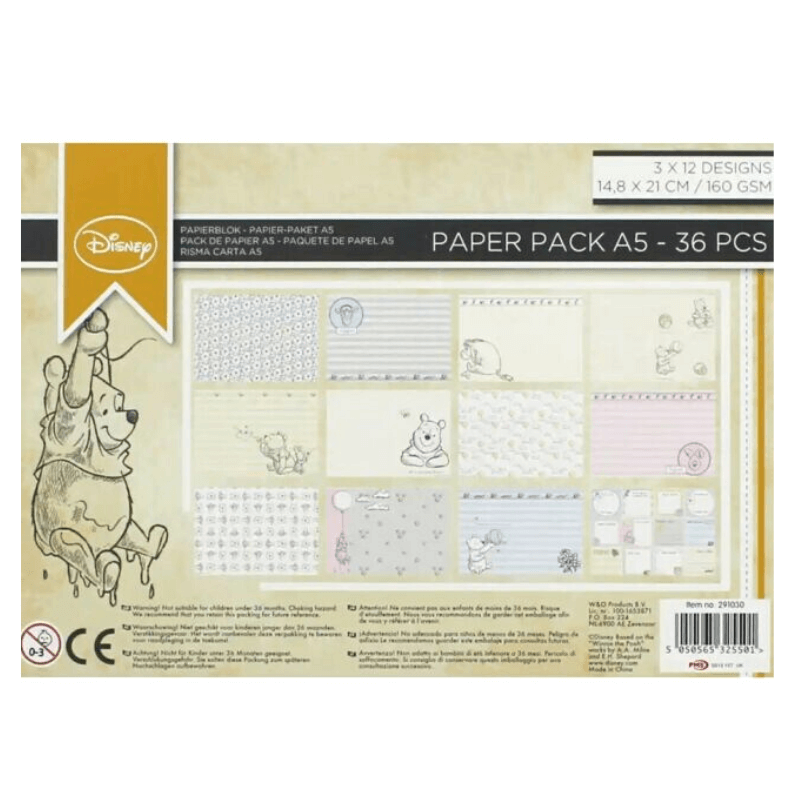 Winnie the Pooh A5 Craft Paperpack
