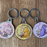 Winnie the Pooh Letter 'T' keyring