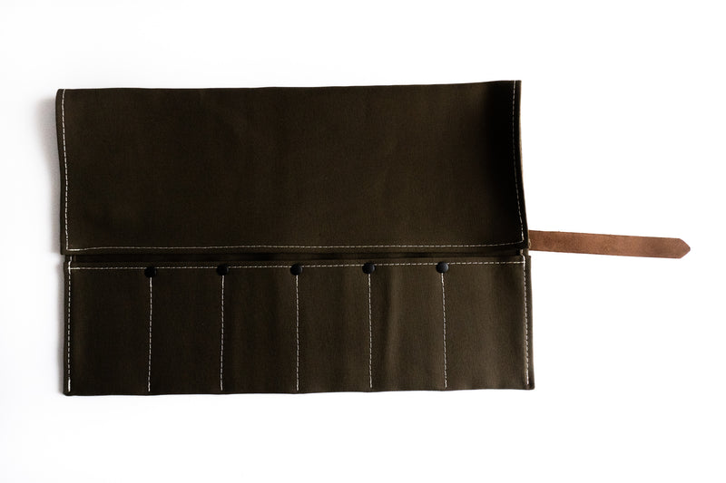6-Pocket Waxed Twill Tool Roll