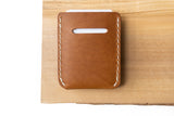 Whiskey Nubuck Card Wallet | White Thread