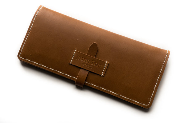 Long Wallet in Whiskey Buttero Leather