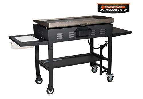 "Blackstone 36"" Propane Gas Griddle Cooking Station - 4 Burner, Classic Black"