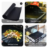 Non-Stick BBQ Grill And Baking Mats Reusable Telfon