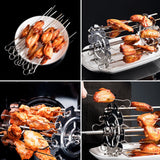 Hot New Stainless Steel Grilled Cage BBQ Roaster Barbecue Kebab Maker Meat Skewer Machine BBQ Grill Kitchen Air Fryer Accessorie
