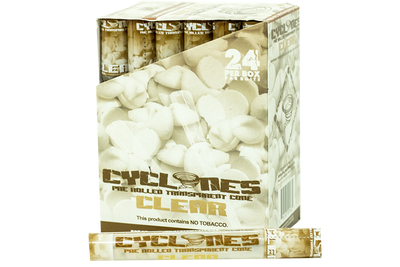 Clear Cyclone Pre Rolled Cones - Clear - Slimjim Online