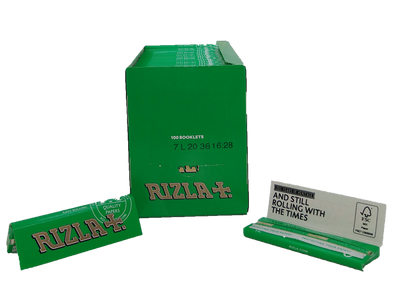 RIZLA 1 1/4TH GREEN ROLLING PAPERS - Slimjim Online