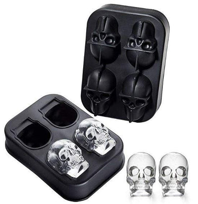 3D Skull Silicone Ice Cube Tray Mold