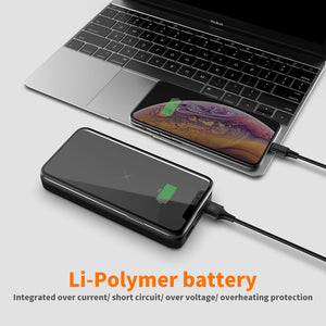 wireless battery black with iphone