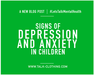 Signs of depression and anxiety in children