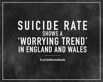 Suicide rate shows a 'worrying trend' in England and Wales