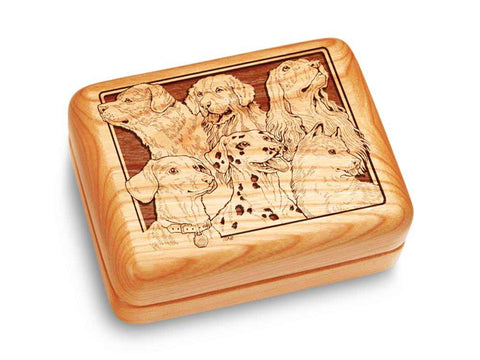 "Top View of a Music Box 4x3"" with laser engraved image of Best Friends"