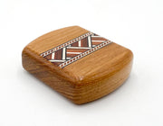 "2"" Flat Wide Teak - Zig Zag Inlay"