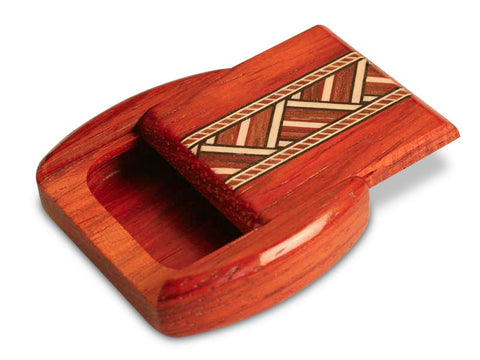 "Top View of a 2"" Flat Wide Padauk with inlay pattern of Zig Zag Inlay"