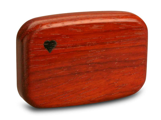 "Back View of a 3"" Flat Wide Padauk with marquetry pattern of Wave Marquetry"