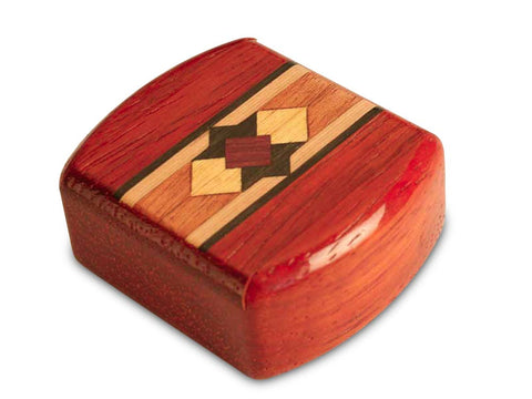 "Top View of a 2"" Med Wide Padauk with inlay pattern of Compass Rose Inlay"
