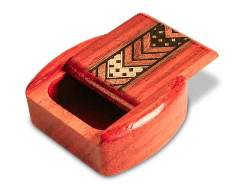 "Top View of a 2"" Med Wide Padauk with inlay pattern of Mission Revival Inlay"
