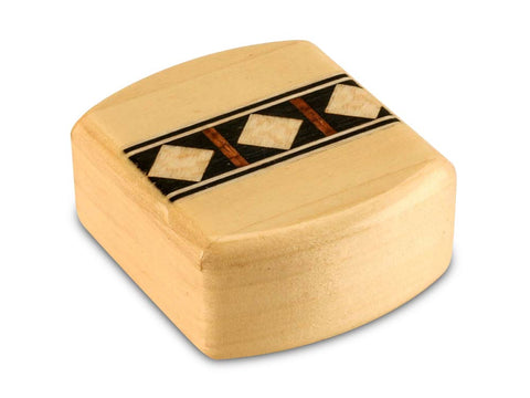 "Top View of a 2"" Med Wide Aspen with inlay pattern of Black and White Geometric Inlay"