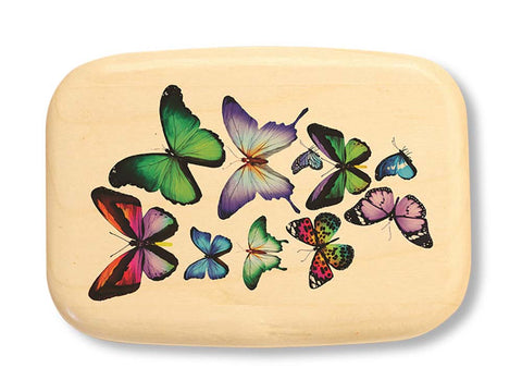 "Top View of a 3"" Med Wide Aspen with color printed image of Butterfly - Colla"
