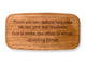 "Top VIew of a 4"" Med Wide Cherry with laser engraved image of Quote -Hodding Carter"