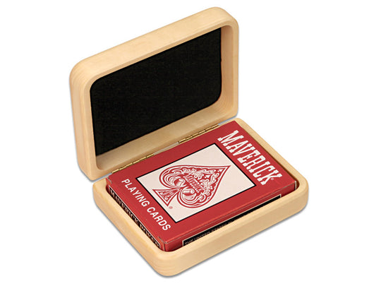 Closed View of a Ace Playing Cards Hinged Box with color printed image of Custom Color Printing