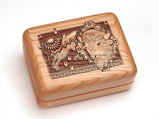 "Top View of a 4x3"" w/ 12 Function Pocket Tradesman with laser engraved image of Petro/Bison"