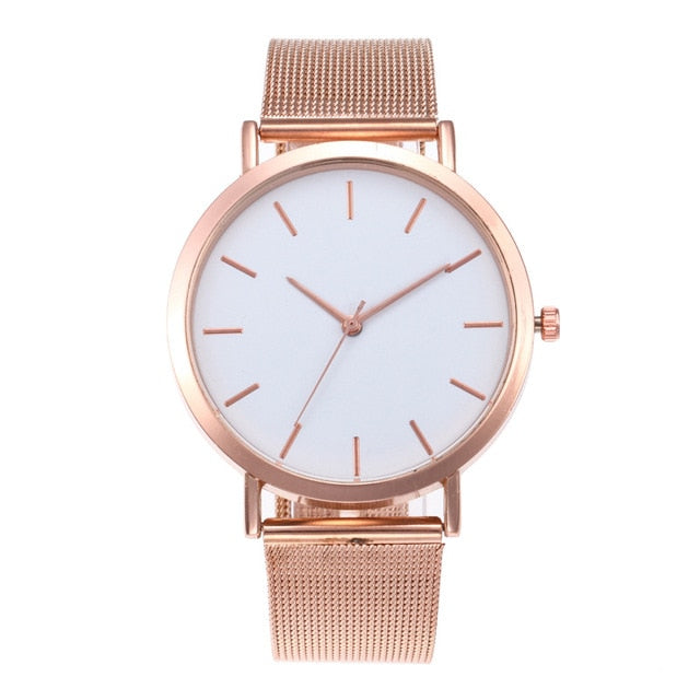 Simple Romantic Rose Gold Watch - Kanugi