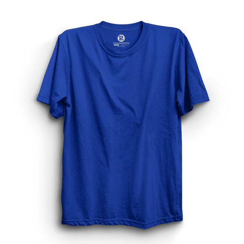 ROYAL BLUE HALF SLEEVE T-SHIRT
