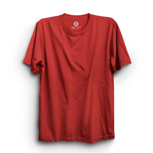 RED HALF SLEEVE T-SHIRT