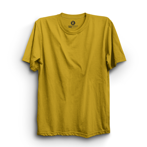 MUSTARD YELLOW HALF SLEEVE T-SHIRT