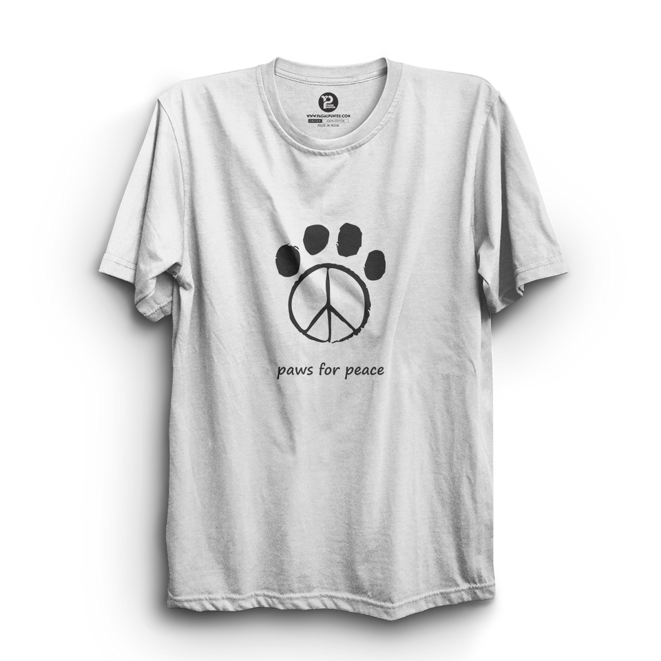 HS- PAWS FOR PEACE (WHITE-BLACK)