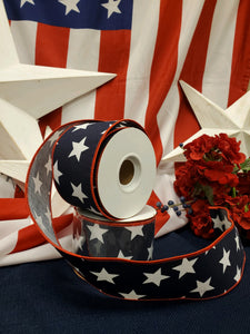 Patriotic Navy Star Ribbon
