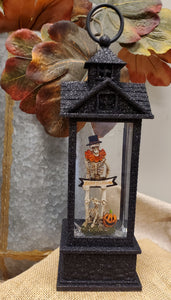 Lighted/Glitter Skeleton Dog Water Lantern
