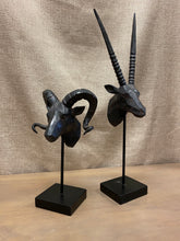 Load image into Gallery viewer, Ram Sculpture With Curly Horns