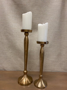 Gold Brushed Finish Candlesticks