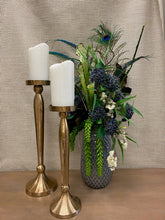 Load image into Gallery viewer, Gold Brushed Finish Candlesticks