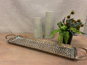 Slim Hammered Tray