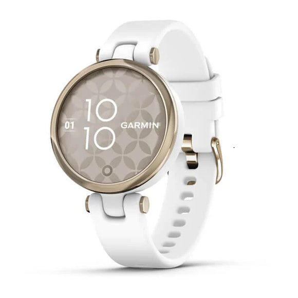 Garmin Lily™ | Cream Gold Bezel with White Case and Silicone Band