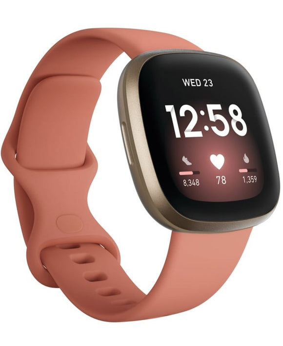 Fitbit Versa 3 | Pink Clay / Soft Gold