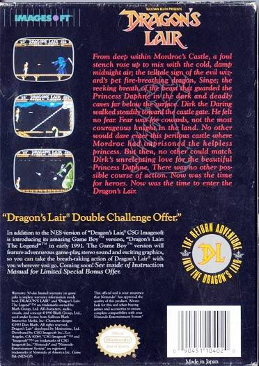 Sullivan Bluth Presents: Dragon's Lair - NES | Retro1UP Game