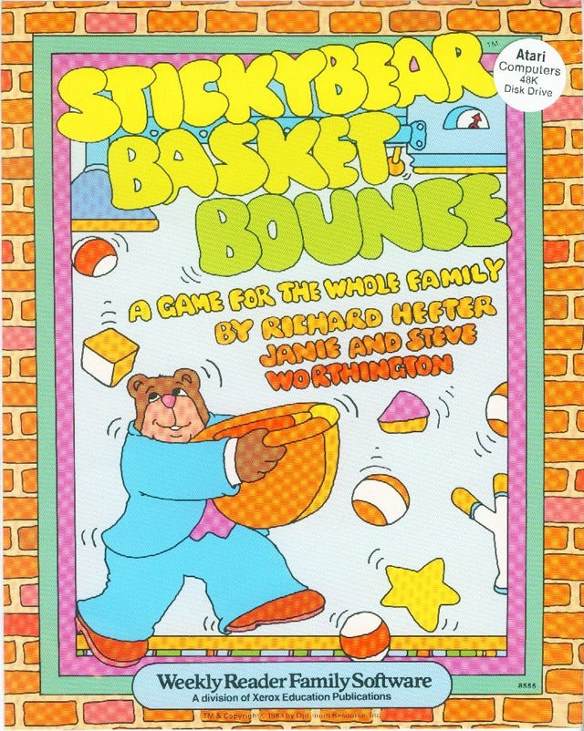 Stickybear Basket Bounce - Atari 8-bit | Retro1UP Game