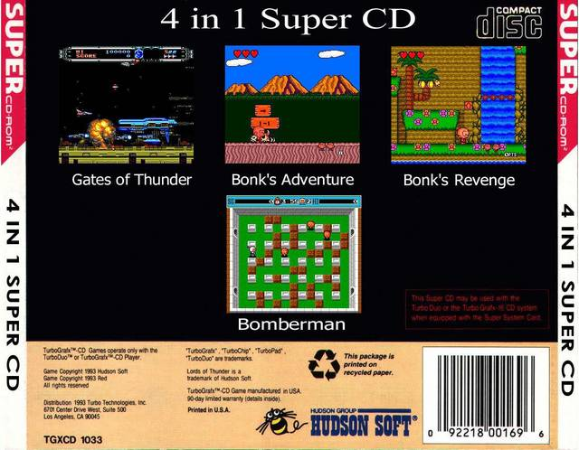 4 in 1 Super CD - Turbo CD | Retro1UP Game