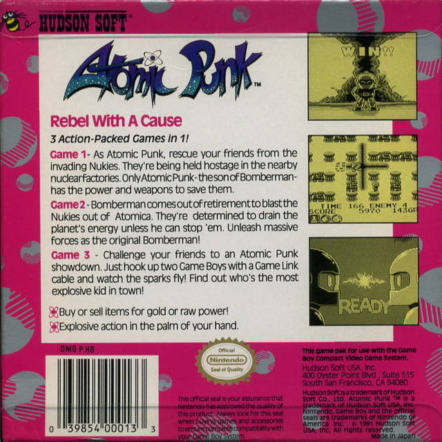 Atomic Punk - Game Boy | Retro1UP Game