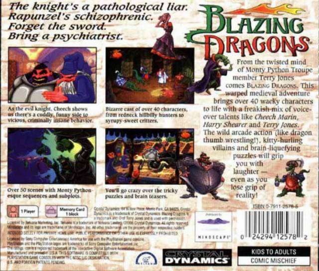 Blazing Dragons - PlayStation | Retro1UP Game