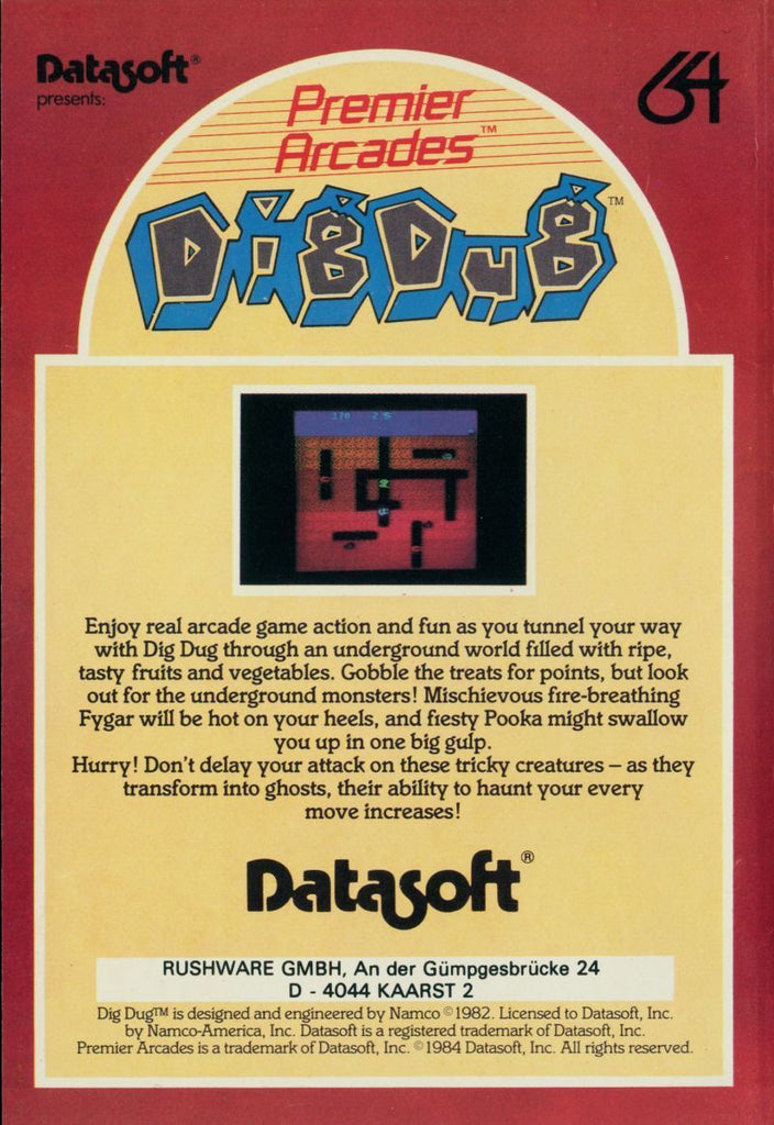 Dig Dug - Commodore 64 | Retro1UP Game