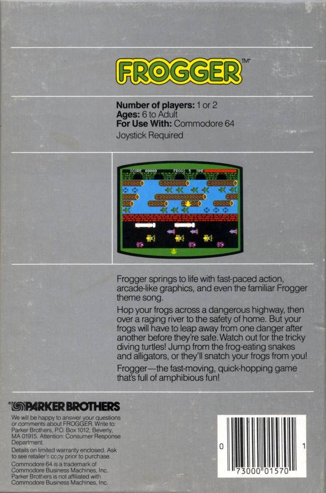 Frogger - Commodore 64 | Retro1UP Game